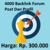 4000 Backlink Forum Post Dan Profil