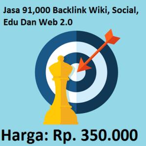 Jasa 91,000 Backlink Wiki, Social, Edu Dan Web 2.0